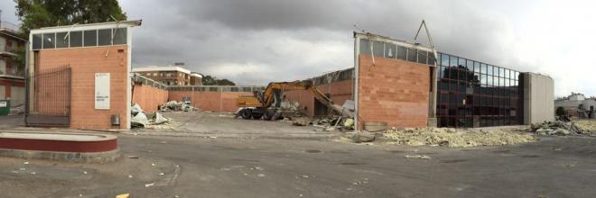 Demolición antiguo Recinto Ferial Santa Quiteria Lorca